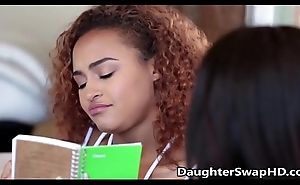 Teen White Girl Thinks Her Friends Black Paterfamilias Is Hot  - DaughterSwapHD.com