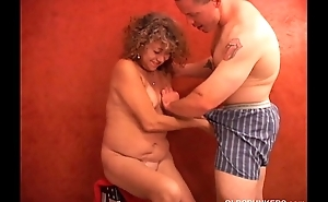 Super sexy shy old spunker plays anent her juicy pussy for you