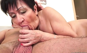 Cockhungry grandma drilled hard