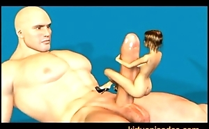 Giant Man Having Fun With Small Girl 3D