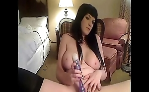 big titted emo girl playing with herself on cam