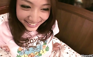 Asian girl plays forth herself