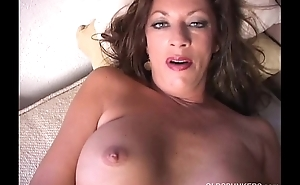 Naughty age-old spunker plays with her juicy pussy for u