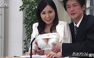 Oriental News Reader Fingered To the fullest On Cam
