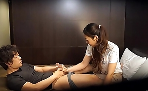 Japanese hotel massage not present wrong Subtitled in HD