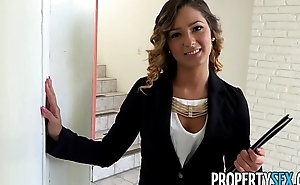 PropertySex - Beautiful agent seduces together with fucks home owner for signature