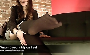 Nina'_s Sweaty Nylon Feet - www.clips4sale.com/8983/15799968
