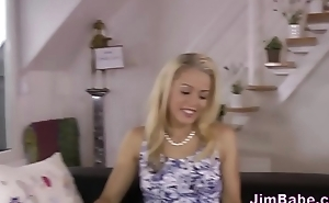 Jizz mouth teen blows