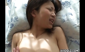 Oriental slut has a fuck deep in her wet pussy pie