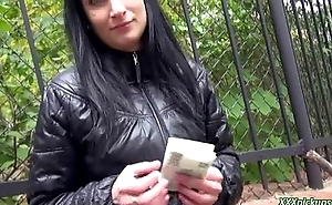 Public Pickups - Amateur Euro Sluts Sucking Cock Outside For Euros 28