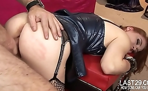 playing with anal toys while her slit is wrecked doggystyle