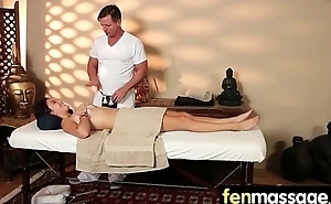 Massage Girl Sucks the Tip for a Tip 13