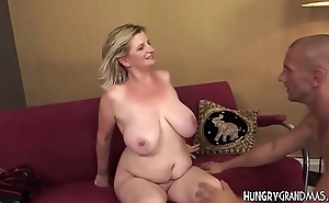 Beamy Granny Gives A Good Boob Fuck