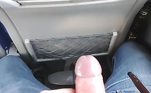 Wanking and cumming on the bus