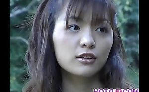 Hijiri Kayama gets doggy and cum not susceptible ambitiousness