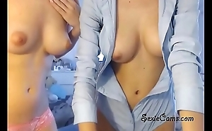 Lesbian Twosome Loves Teasing At Sexiecams.com