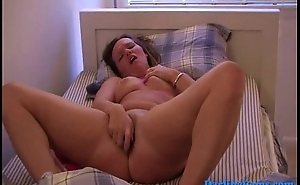 My show one's age Tess from DarlingCams.com playing with herself in bed Part 1
