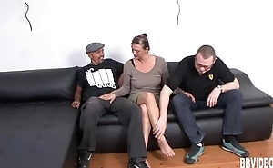 Chesty german milf turtle-dove two guys